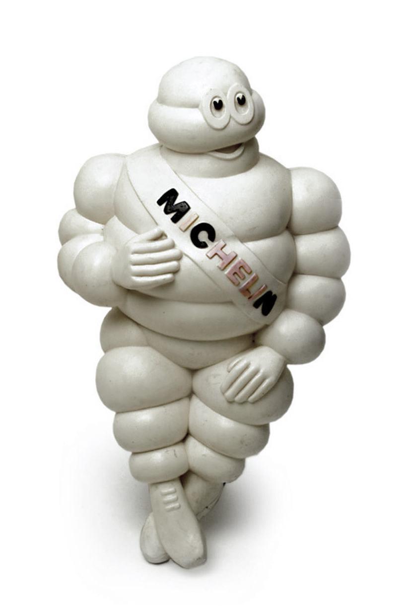 """Sammlungsobjekt Werbefigur """"Bibendum"""" von Michelin,  weißer Kunststoff"""