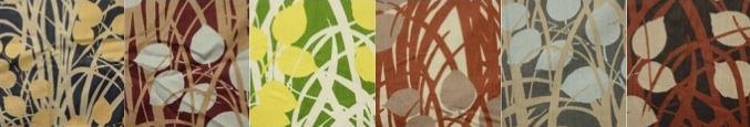 Stoffmustersammlung, verschiedene Designs