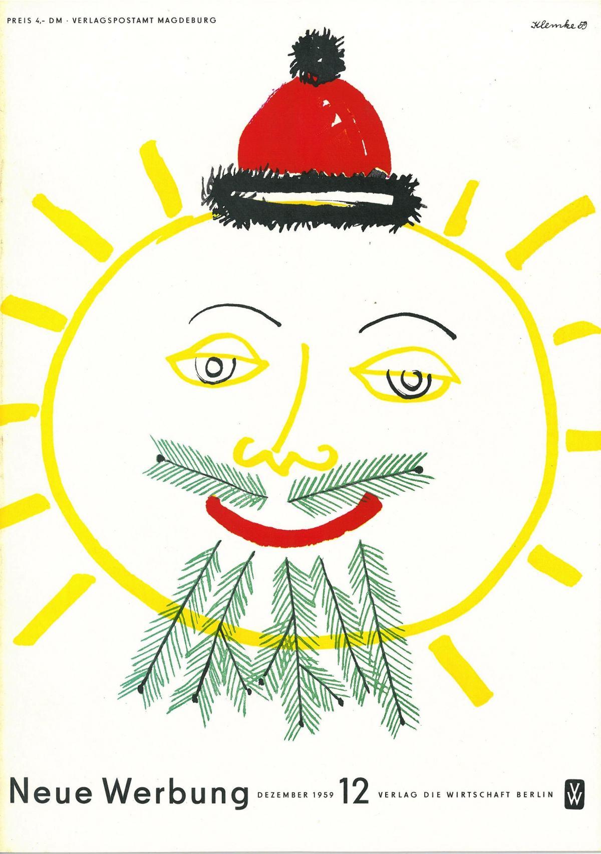 """Titelseite """"Neue Werbung"""" 1959, gestaltet von Werner Klemke"""