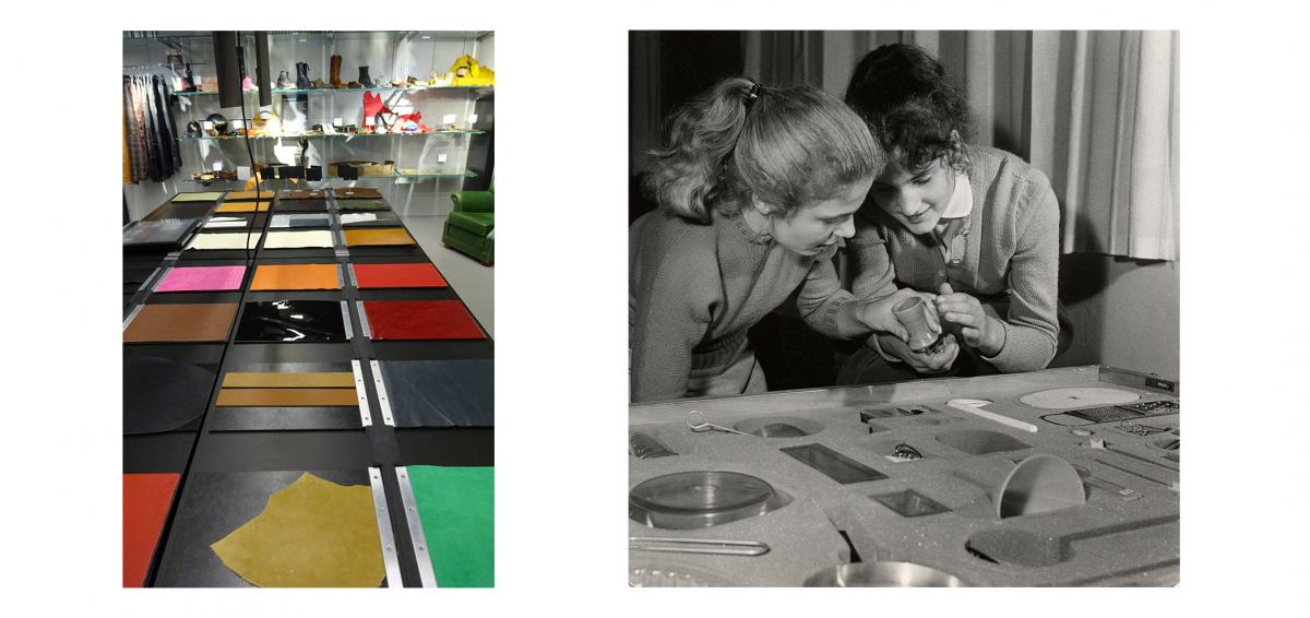 Materialarchiv, Werkbundkiste Küchengeräte, nebeneinander