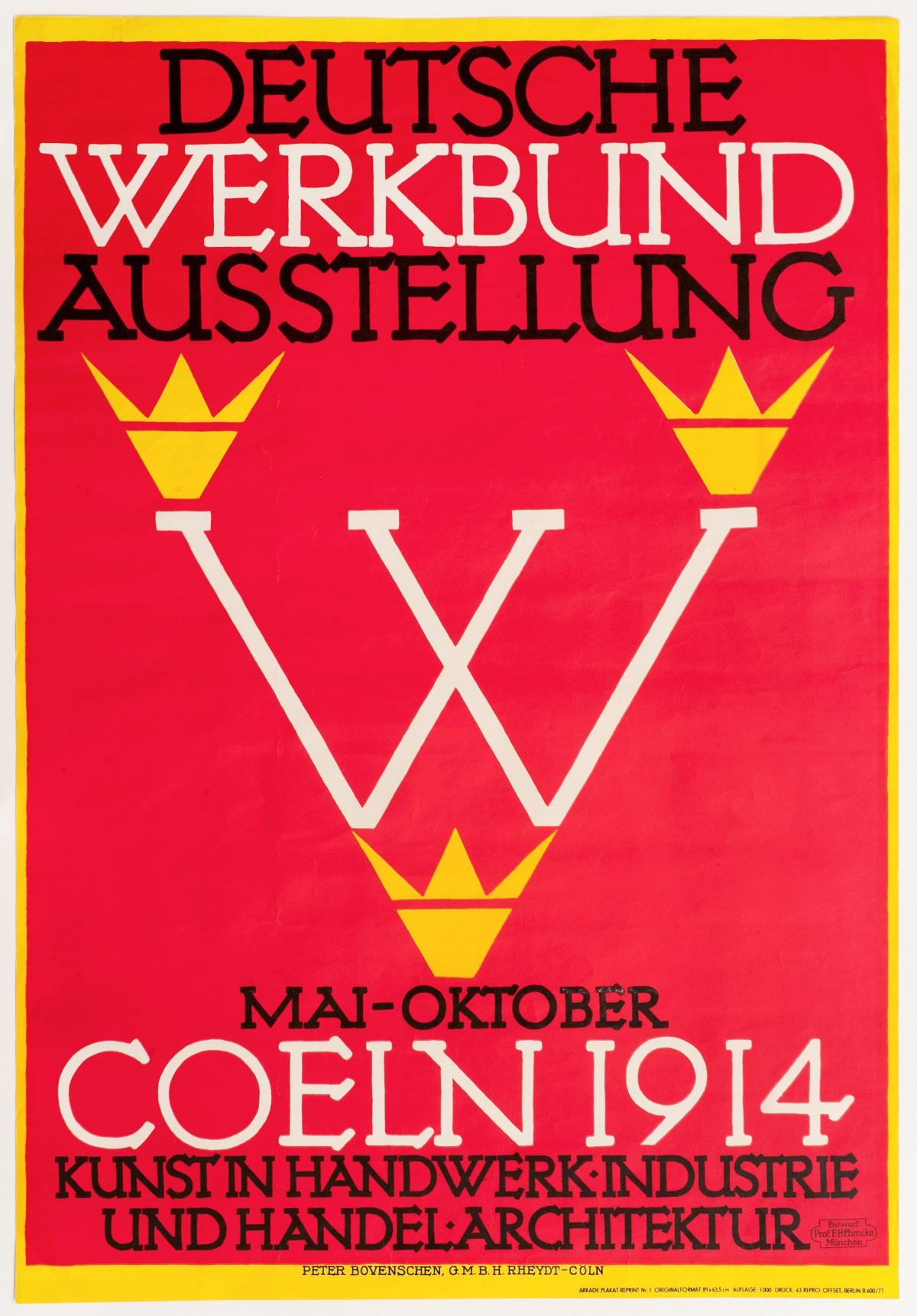 Made in Germany - Plakat Ehmke 1914, Sammlung Werkbundarchiv - Museum der Dinge