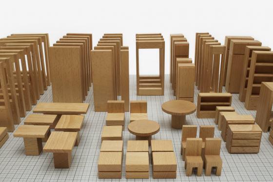 Modellbaukasten der Berliner Wohnberatungsstelle, 1960er Jahre, Foto: Armin Herrmann