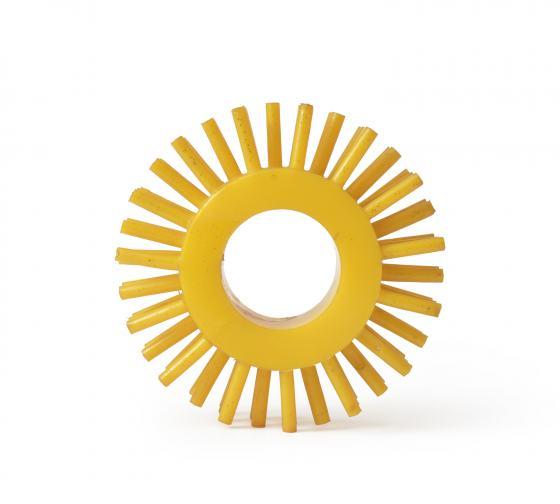 Gelber Ring mit Noppen, Sammlung Werkbundarchiv – Museum der Dinge, Foto: Armin Herrmann