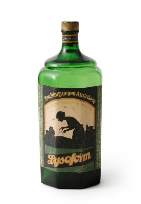 Lysoform-Flasche, Lysoform Dr. Hans Rosemann GmbH, 1920er Jahre.