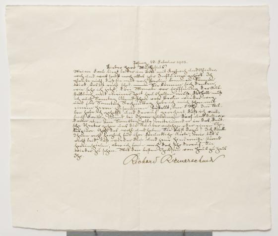 Brief Richard Riemerschmid an Hermann Muthesius