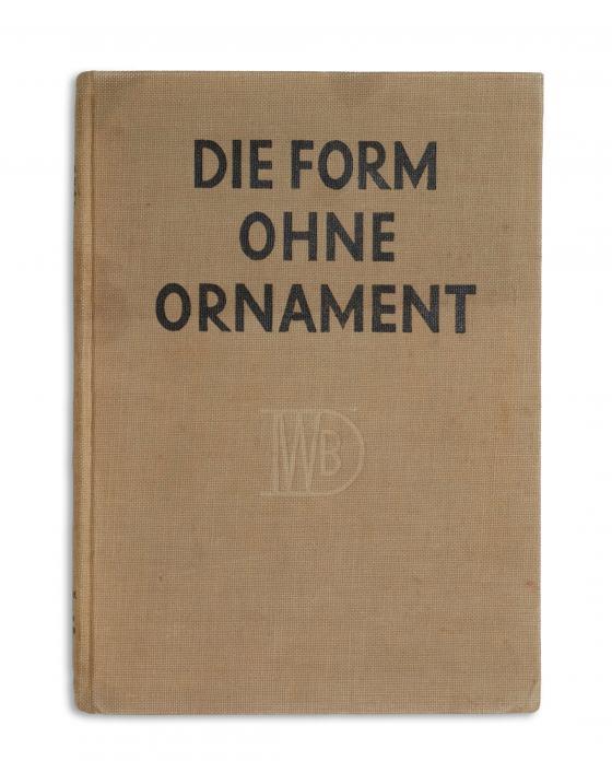 """""""Die Form ohne Ornament"""", Publikation zur Werkbundausstellung 1924"""