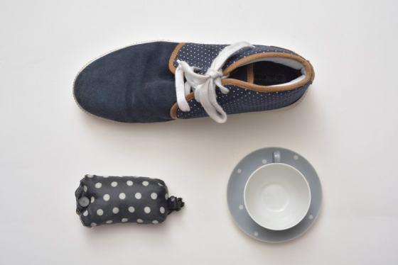 Junge Sammler, Punkte-blau/weiß-Sammlung