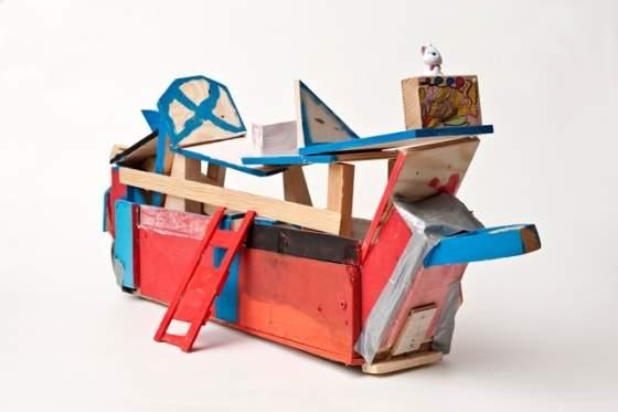 "Schiff, Selbstau, Exponat der Sonderausstellung ""Cucula - Refugees Company for Crafts and Design"""