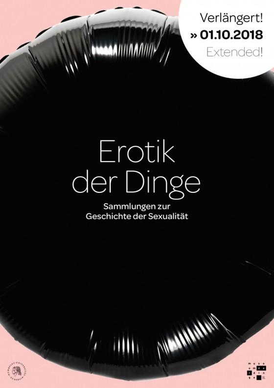 """Plakat """"Erotik der Dinge"""". Gestaltung: Rose Epple"""